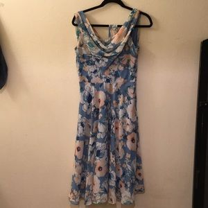 Spring has sprung! Midi floral tea party dress 6